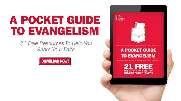 NEW EVANGELISM RESOURCE!  A Pocket Guide to Evangelism outlines 21 FREE resources to help you share your faith! Download now!