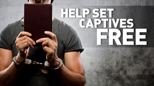 Give now to help get God's Word into the hands of inmates and watch Jesus set them free!