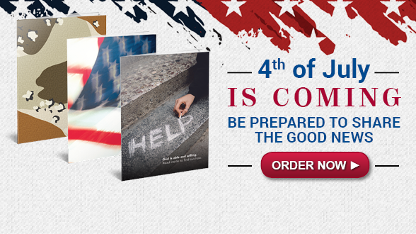 Gear up to share God's Word with veterans, active-duty military and others this Independence Day! Ask for expedited shipping to ensure timely delivery.