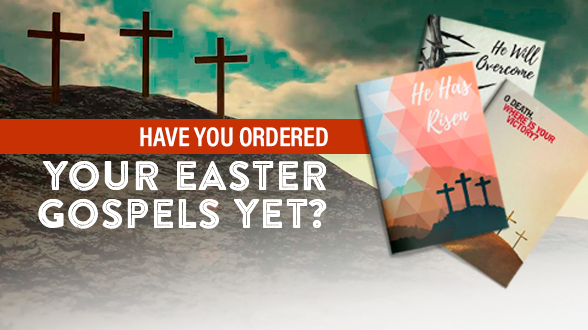 Order by 4/12 to receive your Gospels via UPS delivery!