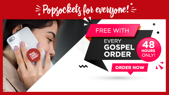 No promo code needed, we will add a free Popsockets to EVERY Gospel order for the next 48 hours. While supplies last.