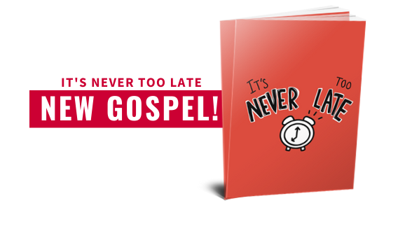 """Just Say """"Hello"""" to connecting people to the God who loves them. Get equipped today with the newest Gospel Kit featuring the NEW exclusive It's Never too Late Gospel."""