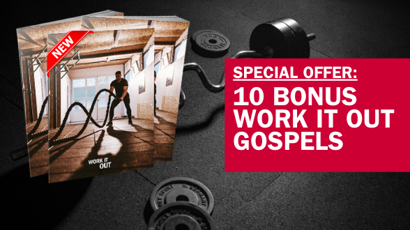 No coupon code needed. Simply order 30 or more Gospels and fully cover your order with a donation. Your 10 bonus Gospels will be added when we shipoutorders. Ends 1/22.