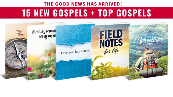 Nearly 200,000 pocket-sized Gospels of John just arrived! And are now ready for Members like YOU to share around North America and the world. Take a look >>